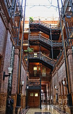 Bradbury Building - an architectural landmark immortalized in Blade Runner.