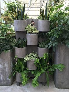 Modular planter with industrial feel.