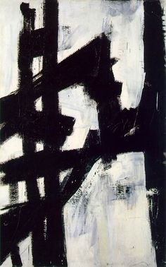 Franz Kline - New York, New York, 1953. Albright-Knox Gallery, Buffalo. It was De Kooning who in 1949 borrowed a Bell Opticon projector to enlarge some of his own drawings. Offered the use of it, Kline took a small drawing of a favourite chair and projected this on to canvas on such a large scale that it completely overlapped the edges. He was fascinated to note that the design, in these circumstances, became completely abstract.  �
