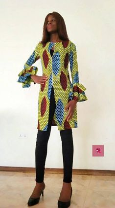 African Prom Dresses, African Dress, Ankara Dress, Africa Fashion, Jackets For Women, Wax, Africa Style, Vest, African Beauty