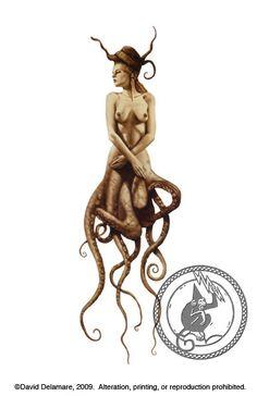 Original Mermaid Artwork by David Delamare Mermaid Fairy, Mermaid Tale, Mermaid Gifts, Real Mermaids, Mermaids And Mermen, Dragon Seahorse, Mermaid Artwork, Water Nymphs, Sea Witch
