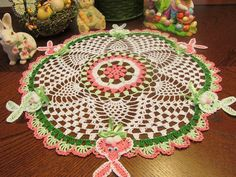 CROCHET EASTER DOILY, HAND MADE BY SOLE