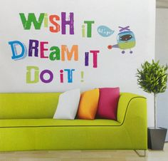 Wish it Dream it Do it Quote wall decal