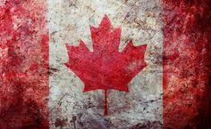 Grunge Canadian flag HD Wallpaper