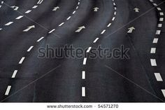 road marking in a city street