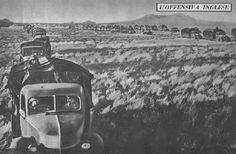 Colonne britannique avançant en Érythrée lors de l'offensive britannique