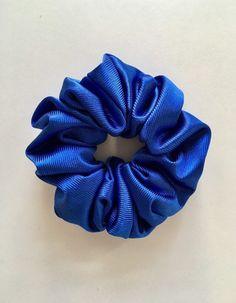 Royal Blue Small Velvet School Scrunchie Bobbles Hair Accessories UK