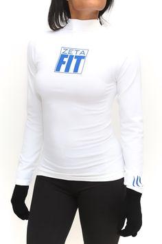 FIT Zeta Warm-Up turtleneck, white