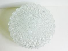 XL Heavy clear crystal glass wall or ceiling flush mount