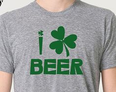 Buy 2 T-Shirts and get the 3rd FREE! *Add 3 T-Shirts To Your Shopping Cart, Apply the coupon code ( FreeTee ) at checkout! (coupon value $12.95 USD when buying 3 items)    St Patricks Day I Love Beer Womens T-shirt Funny T shirt Irish Gift Tshirt Cool Shirts, Irish T shirt Ireland Tee  Al our t-shirts are screen printed by hand and made to order on 100% Cotton Tees. All shirts are screen printed in a smoke free environment.   Only the best screen printing inks are used. I double hit each…