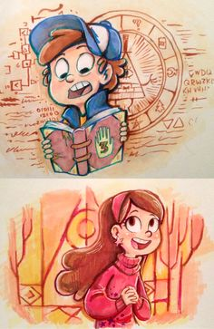 Mystery Twins | Mabel and Dipper Pines | by *sharpie91 on deviantART | Gravity Falls