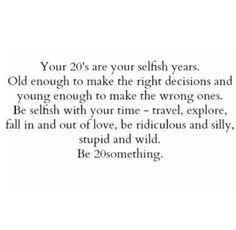 Be 20 something