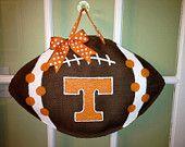 University of Tennessee Football - Burlap Door Hanger