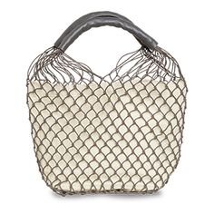 Need a novel substitute to your regular handbag? This net bag with real leather will add a fresh dimension to your look and store all your essentials at the same time.