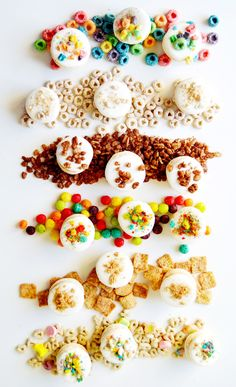 Cereal Macarons with Cereal Milk Frosting | The Busy Spatula