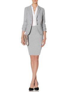 0b93de15165 Grey Collection Pencil Skirt   Two Button Jacket