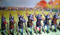 The English Longbow proves lethal to the French chivalry at Agincourt.