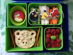 Every day, she uses a different theme. Like 'Angry Birds'. | This Mum Makes The Most Amazing Lunchbox Art For Her Kid Every Day