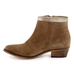 Boots/Bottines Cuir taupe pour Femme : Boots/Bottines Cable - 57,99€