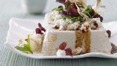 Zartcremiger Bohnenquark und körniger Frischkäse im Duett – asiatisch mariniert Vegan Cheesecake, Cheesecake Recipes, Eat Smarter, Feta, Pudding, Desserts, Inspiration, Vegetarian Recipes, Japanese Kitchen