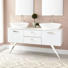 "60"" Chalmers Stainless Steel Vanity - White"