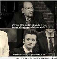 Chris Colfer (openly gay actor) this breaks my heart noone should have to feel that way
