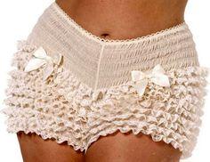 Bijou Boutique Ivory Ruffled Pantaloons