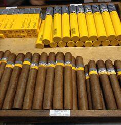 Cohibas cuban cigars.