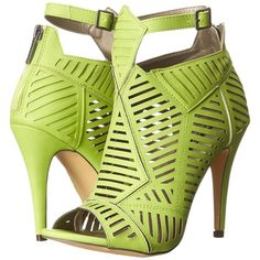 Michael Antonio Jyst (Lime) High Heels ($30) ❤ liked on Polyvore featuring shoes, sandals, green, open toe shoes, lime sandals, green high heel shoes, green sandals and lime green shoes