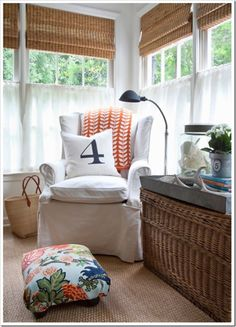 Chair and window treatments