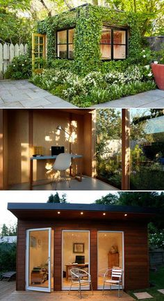 Best Garden Shed Office Yards 63 Ideas Outdoor Office, Backyard Office, Backyard Studio, Garden Studio, Outdoor Living, Small Garden Office, Studio Shed, Shed Conversion Ideas, Shed Office