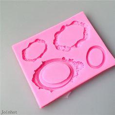 Caliente marco de diseño pastel de silicona del molde del molde del jabón DIY Baby Shower decoración de pasteles Fondant hornear molde