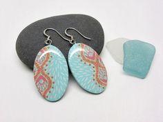 Polymer clay earrings turquoise earrings by AquascentCreations Polymer Clay Earrings, Turquoise Earrings, Drop Earrings, Dangle Earrings, Drop Earring