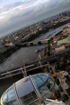 Crazy and awesome view from the London eye , photo by JaFrazier. com