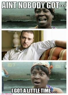 Sweet Brown has a little time for Justin Timberlake.