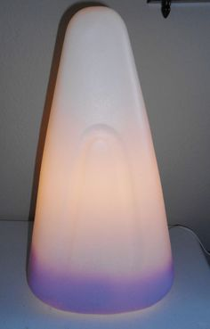 "VTG 1995 RARE LIGHTED EASTER  17"" CANDY CORN BLOW MOLD UNION PRODUCTS~ LAVENDER"