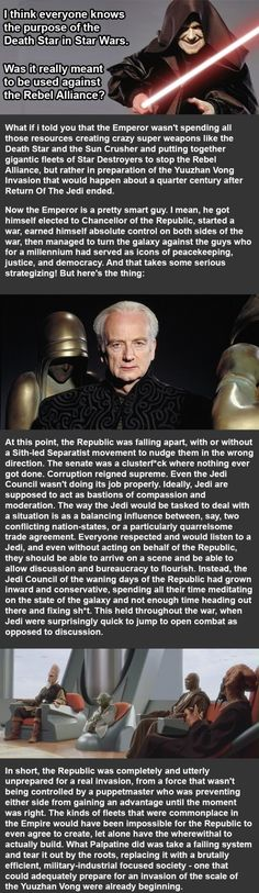 I think there's something to this, but don't start thinking Palpatine's a good guy. All tyrants claim to be protectors and saviors...