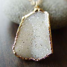 vanilla druzy necklace from friedasophie » Beautiful!
