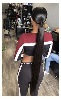Long Ponytail Hairstyles, Hair Ponytail Styles, Long Hair Ponytail, Easy Hairstyles For Medium Hair, Sleek Ponytail, Sleek Hairstyles, Black Girls Hairstyles, Straight Hairstyles, Summer Hairstyles