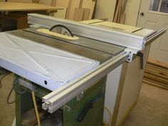 Image result for Table saw outfeed table using t track