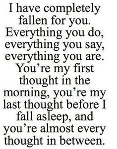 love relationship couple boyfriend long distance i love you BF love quotes Relationship Quotes boyfriend quotes couple quotes long distance relationship quotes quotes for him long distance relatiomship Love Quotes For Her, Soulmate Love Quotes, Great Quotes, Quotes To Live By, Inspirational Quotes On Love, Fallen For You Quotes, Quotes About First Love, Crazy About You Quotes, Having A Crush Quotes