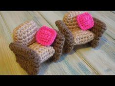 (crochet) How To - Crochet a Doll's House Armchair - Yarn Scrap Friday - YouTube