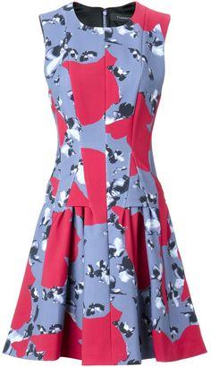 Thakoon Two Tone Scuba Flare Dress