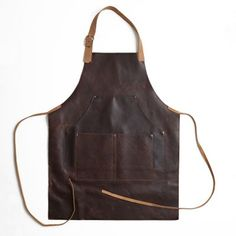 This vintage-inspired leather apron not only pays tribute to the artisans and craftsmen of the past but features a variety of well thought out details that make it fully functional for life today.