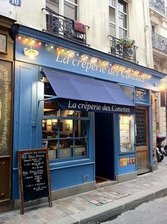 ah!! We stayed across the street from this Creperie in Paris! Rue des Canettes!!  #Paris #blue