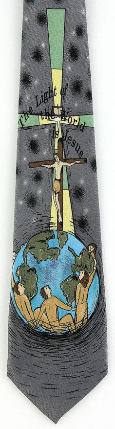 New Jesus Light Of The World Mens Necktie Christian Religious Easter Neck Tie #Parquet #NeckTie