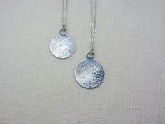 lullaby full moon sterling silver necklace