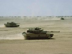 Tanks in the desert during the Persian Gulf War | Operation Desert Storm (1990-1991)