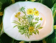 Enoch Wedgwood plate . Tudor Butterfield platter . Serving dish . Vintage china serving plate . 1960s As new . Large serving plate . As new
