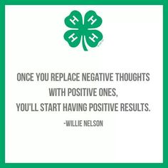 4-H is a positive and our 4-Hers are the positive results:)